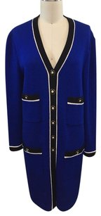 St. John Collection By Marie Gray Royal Sweater Coat P Blue Jacket