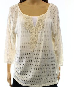 Status 3-4-sleeve Knit-top Modal New With Defects 3400-0134 Top