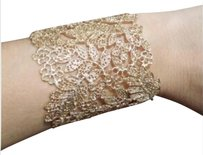 Stella & Dot Gold Chantilly Lace Cuff