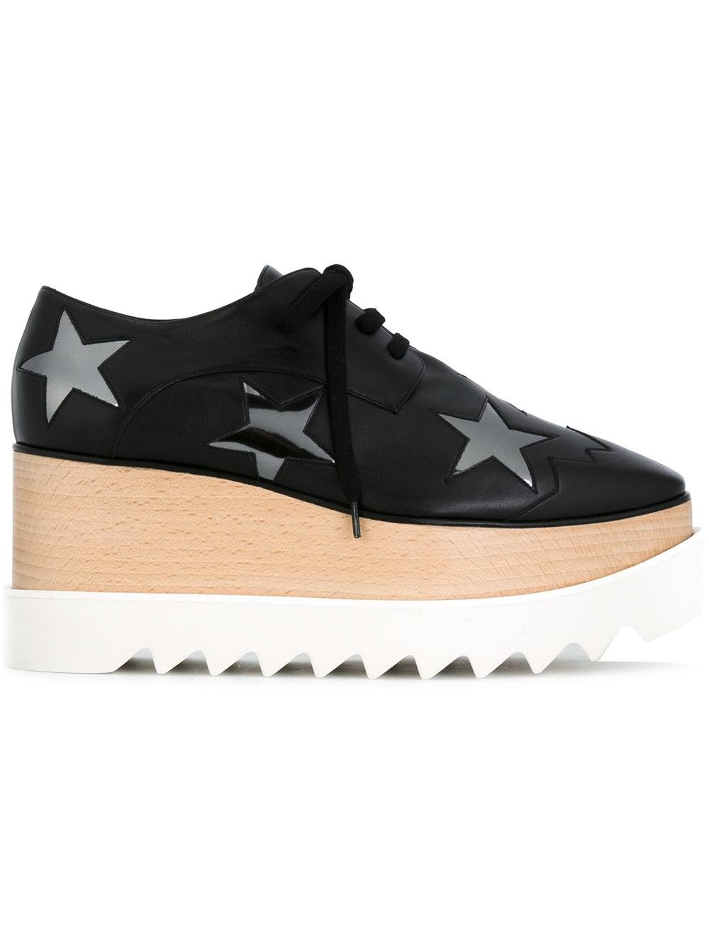 Free Shipping Outlet Black and Silver Elyse Star Platform Derbys Stella McCartney Cheap Sale Purchase Sale Extremely YMnZkrye
