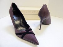 Stella McCartney Black Stiletto Purple Pumps