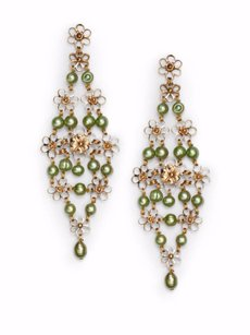 Stephen Dweck Stephen Dweck Green Pearl & Bronze Trellis EARRINGS