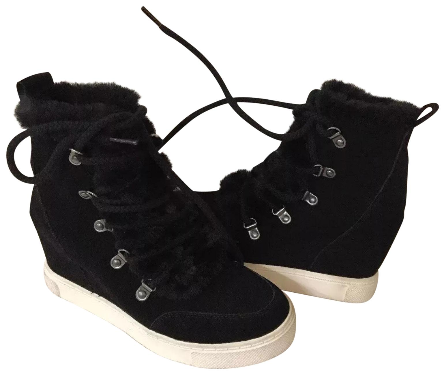 c59707ccbaa Steve Steve Steve Madden Black Lift Sneaker Wedges Size US 7 Regular ...