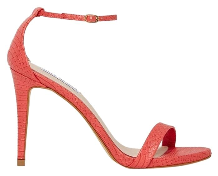 Steve Madden Coral Stecy Stacy Sexy In Snake Print Leather Sandals Size US 9 Regular (M, B)