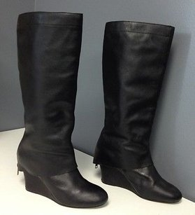 Steve Madden Leather Black Boots