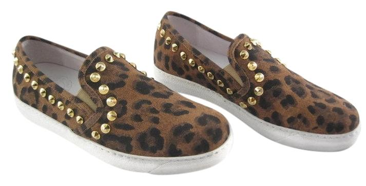 Coach Putnam Leopard-Print Loafers Details Coach loafers in leopard print dyed calf hair (Brazil) with leather trim.
