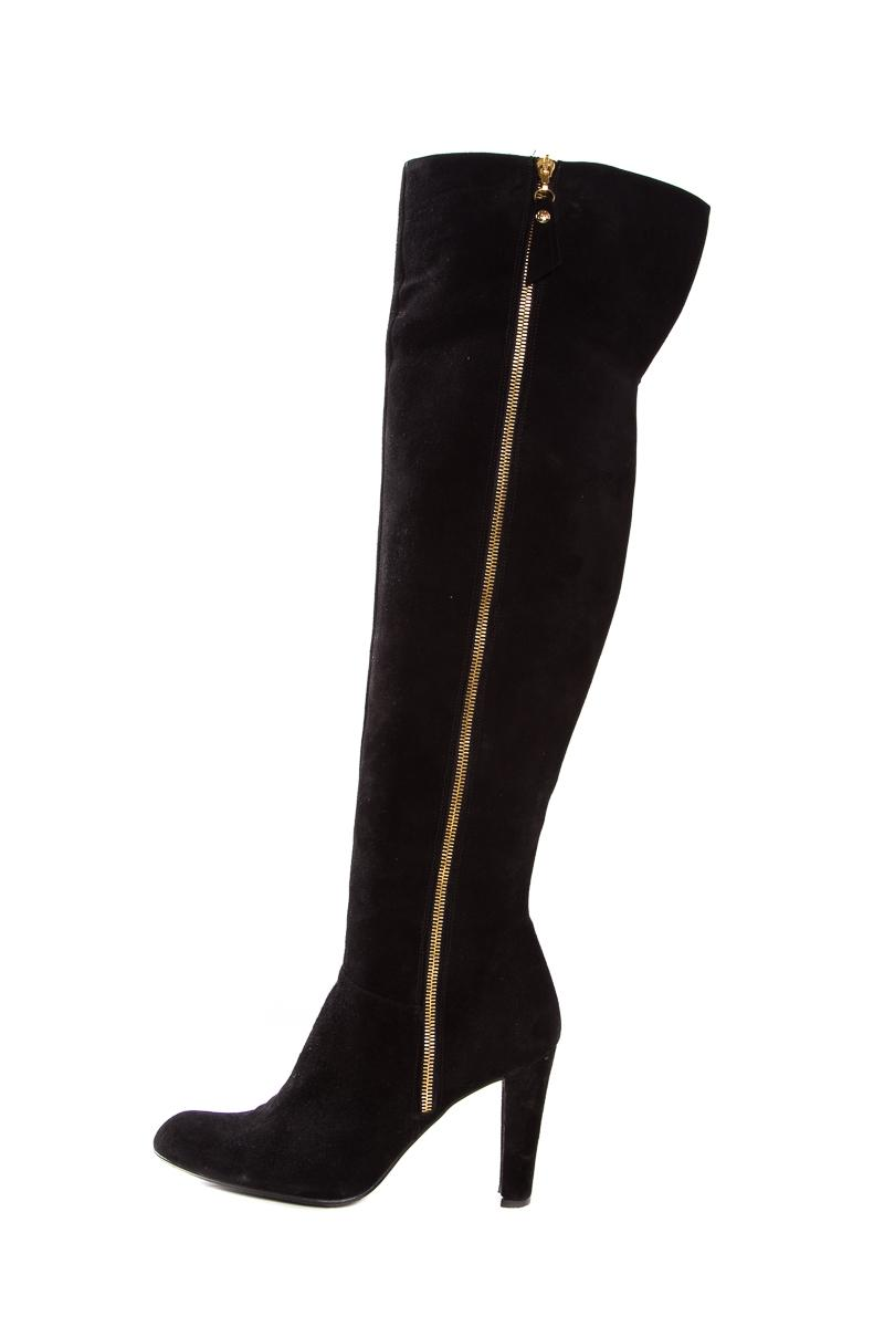 Stuart Weitzman Black Suede Over-the-knee-boots Boots/Booties Size US 8.5 Regular (M, B)
