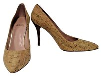 Stuart Weitzman Power Natural Cork Beige Pumps
