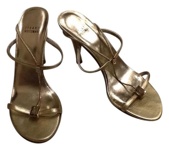 4d45672a4c6 Stuart Weitzman Gold Strappy with Clear Rhinestone Sandals Size Size Size US  9.5 Regular (M