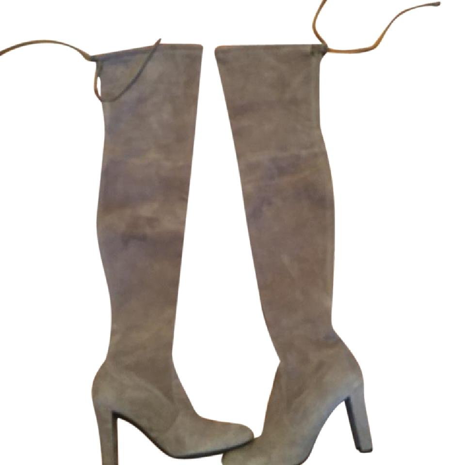 Stuart Weitzman Taupe Suede Highland Over The Knee Boots/Booties Size US 6 Regular (M, B)
