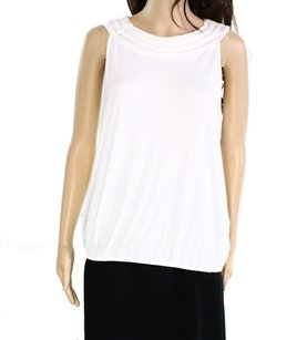 Studio M 100-cotton Cap-sleeve Top
