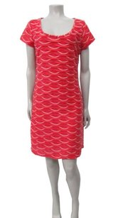 Studio M short dress Coral Max Macys Cap Sleeves Tiered Embroidery on Tradesy