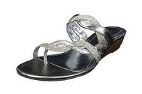 Style & Co Womens Man Made silver Sandals