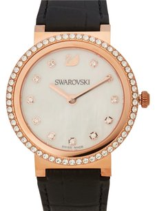 Swarovski 5029639 Rose Gold-Tone & Black Watch