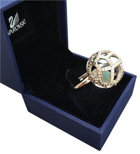 Swarovski NEW One of a kind ball lace crystal cage ring as seen on Confession of a Shopaholic w/ BOX!!