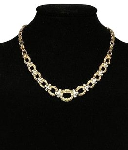 Swarovski Swarovski Gold Green Circle 17 Clasp Fasten Crystal Encrusted Necklace B3379