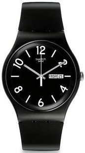 Swatch Swatch Backup Black Unisex Watch Suob715