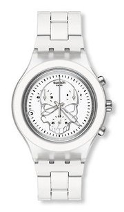Swatch Swatch Full-blooded White Skull Unisex Watch Svcw4000ag