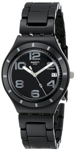 Swatch Unisex Irony Analog Quartz Black Watch YGB4008AG