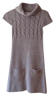 Sweater Project short dress Gray on Tradesy