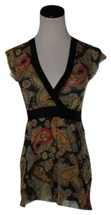 Sweet Pea by Stacy Frati Womens Black Top Multi-Color