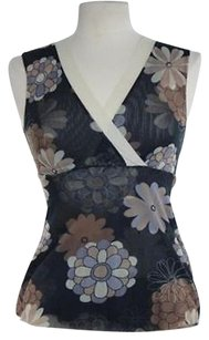 Sweet Pea by Stacy Frati Womens Navy Beige Top Multi-Color