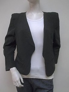 Sweet Rain Sweet Rain Black Cropped Jacket Blazer L55317 Hangs Open