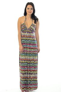 Multi-Color Maxi Dress by T-Bags Los Angeles T Bags Braided