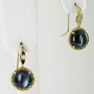 Tacori Tacori 18k925 Golden Bay Earrings Blue Topaz Hematite 18k Yellow Gold
