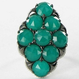 Tacori Tacori 18k925 Ring 6.75 City Lights Cluster Green Onyx Quartz 925