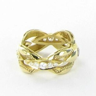 Tacori Tacori 18k925 Ivy Lane Ring Crescent Link 0.63ct Diamond 18k Gold