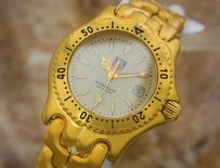TAG Heuer Tag Heuer 200m Diver Swiss Made Quartz Ladies Luxury Gold Plated Watch 2000 P13