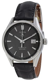 TAG Heuer TAG HEUER Carrera Calibre 5 Anthracite Dial Leather Men's Watch WAR211CFC6336 THWAR211CFC6336