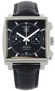 TAG Heuer TAG Heuer Monaco CAW2110.FC6177 Men's Black Leather Watch