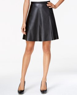 Tahari 5288m349 A-line Faux Leather Skirt