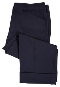 Tahari Womens Solid Polyester Blend Cropped Trousers Capri/Cropped Pants Blue