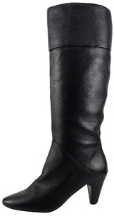 Tahari Gentry Leather Black Boots
