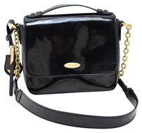 Tahari Patent Leather Spring Summer Night Out Dinner Gold Chain Shoulder Bag