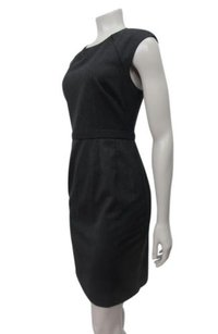 Tahari Crew Melange Cap Sleeve Sheath Dress