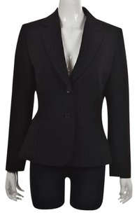 Tahari Tahari Arthur Levine Womens Black Blazer Suit Solid Career