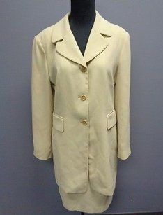Tahari Tahari Pale Green Lined Polyester Two Piece Jacket And Skirt Suit Sma4530