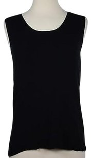 Talbots Womens Solid Top Black