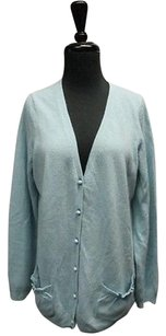 Talbots Wool Long Sleeves Pockets Button Front Cardigan Sma11900 Sweater