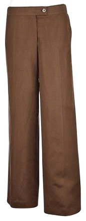 Talbots Womens Brown Dress Pants Textured Rayon Wtw Trousers lovely