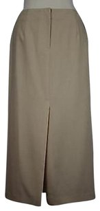 Talbots Solid Wool Skirt Tan