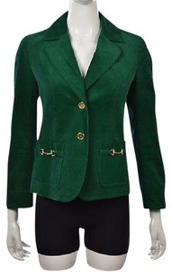 Talbots Talbots Petites Womens Green Blazer 6p Long Sleeve Textured Career Jacket