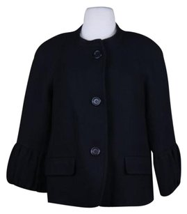 Talbots Talbots Womens Black Blazer Wtw Wool 34 Sleeve Basic Jacket
