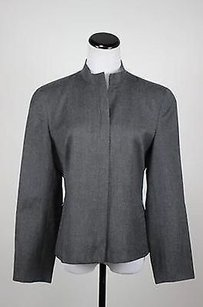 Talbots Talbots Womens Gray Blazer Long Sleeve Wool Full Zip Basic Jacket