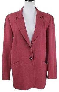 Talbots Talbots Womens Red Blazer Wool Long Sleeve Basic Jacket Lined Career