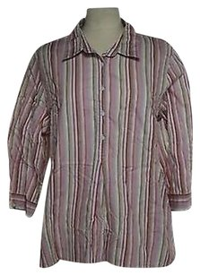 Talbots Womens Pink Button Top Multi-Color